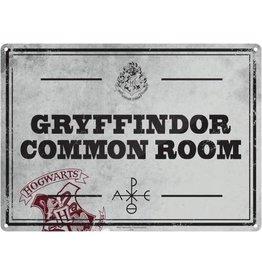 Harry Potter Metal Sign: Gryffindor Common Room