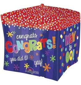 """""""Congrats!"""" Cubez Folie Ballon"""