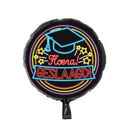 "Neon Foil Balloon ""Geslaagd"""