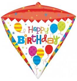 """Happy Birthday"" Diamondz Folie Ballon"
