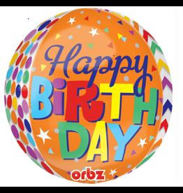 """Happy Birthday"" Ronde Folie Ballon"