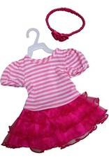 Mini Mommy Dress Pink and Stripes 33-37 cm
