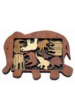 """Recent Toys Frame Puzzle """"Elephant Parade"""""""