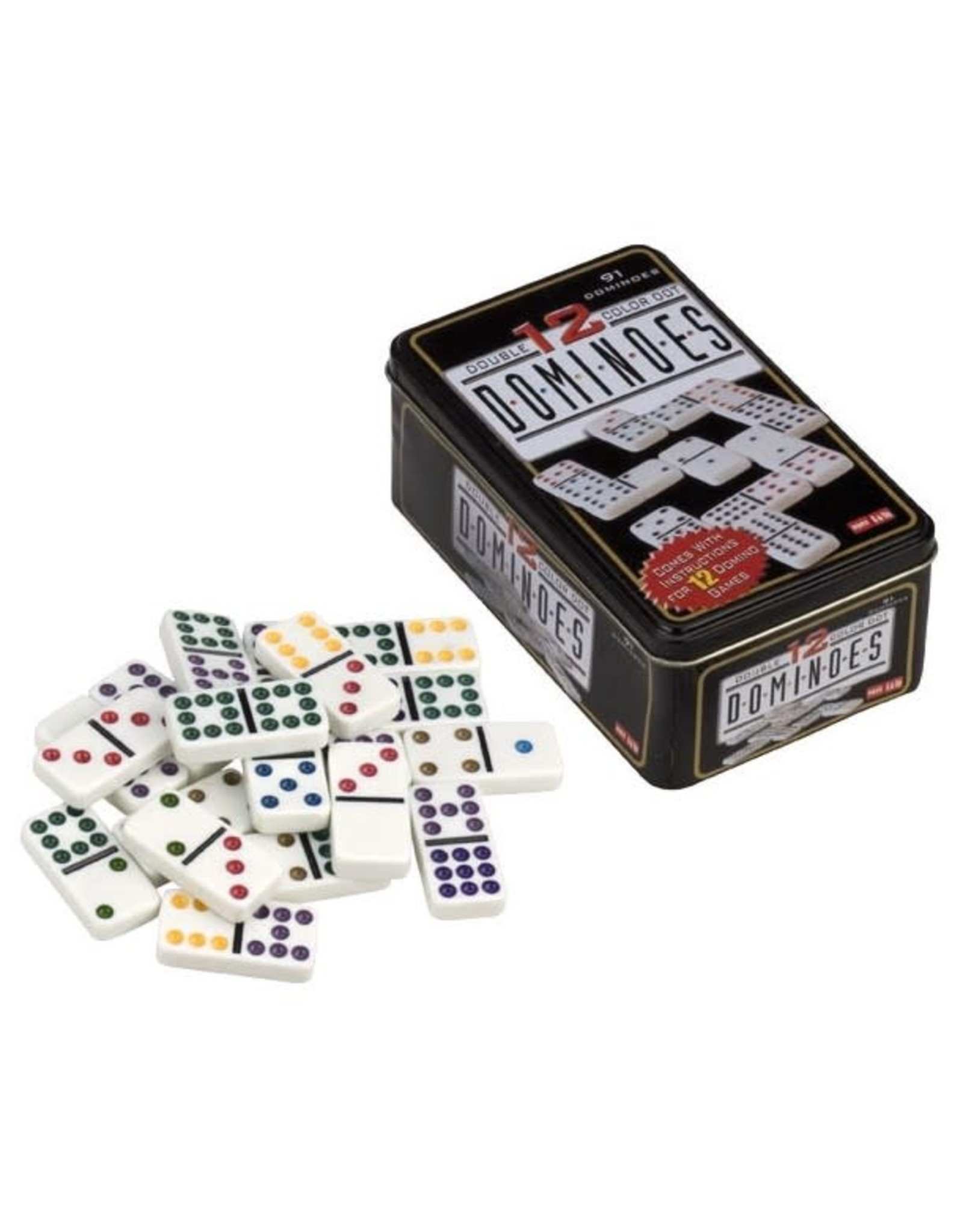 Domino Dubbel 12 Color Dot