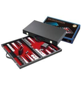 Backgammon Koffer Zwart/Rood Luxe