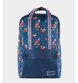 Super Mario All Over Printed Blue Backpack