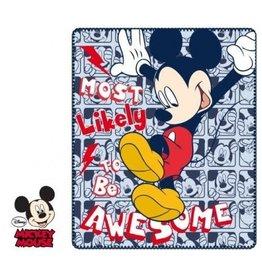"Disney Mickey Fleece Plaid ""Awesome"""