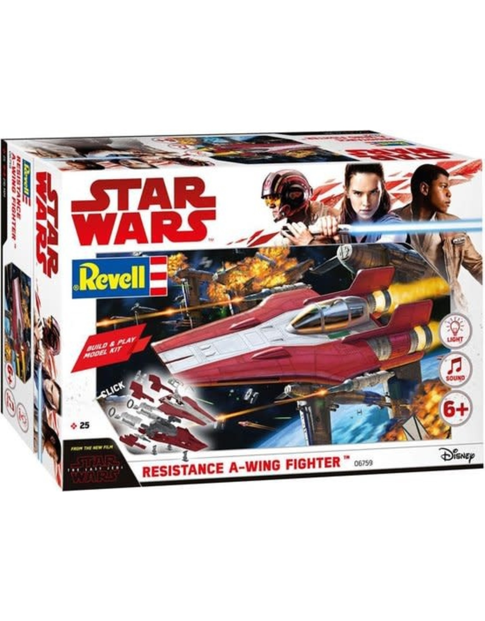 Revell Build & Play Model Kit Resistance A-Wing Fighter