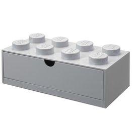 Lego Lego Desk Drawer Brick 8 Grijs
