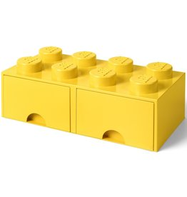 Lego Lego Storage Drawer Brick 8 Geel
