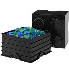 Lego Lego Storage Brick 4 Zwart