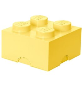 Lego Lego Storage Brick 4 Geel Cool