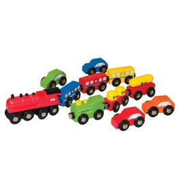 Woody Woody Railway Auto en Treinset