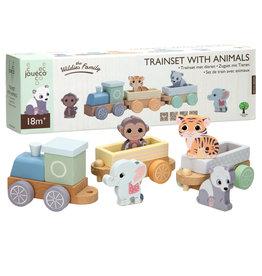 Jouéco Animal Train Set