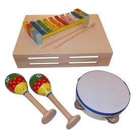 Playwood Muziekset Pastel met Tamboerijn