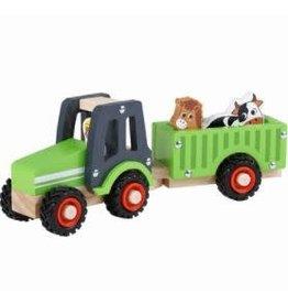 Wa Wa Tractor met Aanhanger Groen