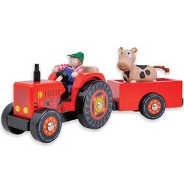 Wa Wa Tractor met Aanhanger Rood