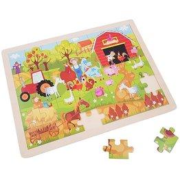 """Playwood Houten Puzzel 48 stukjes """"Op de Boerderij"""""""