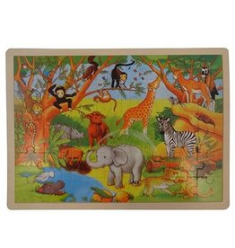 "Playwood Houten Puzzel 48 stukjes ""Jungle"""