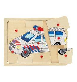 Playwood Knoppuzzel Politieauto