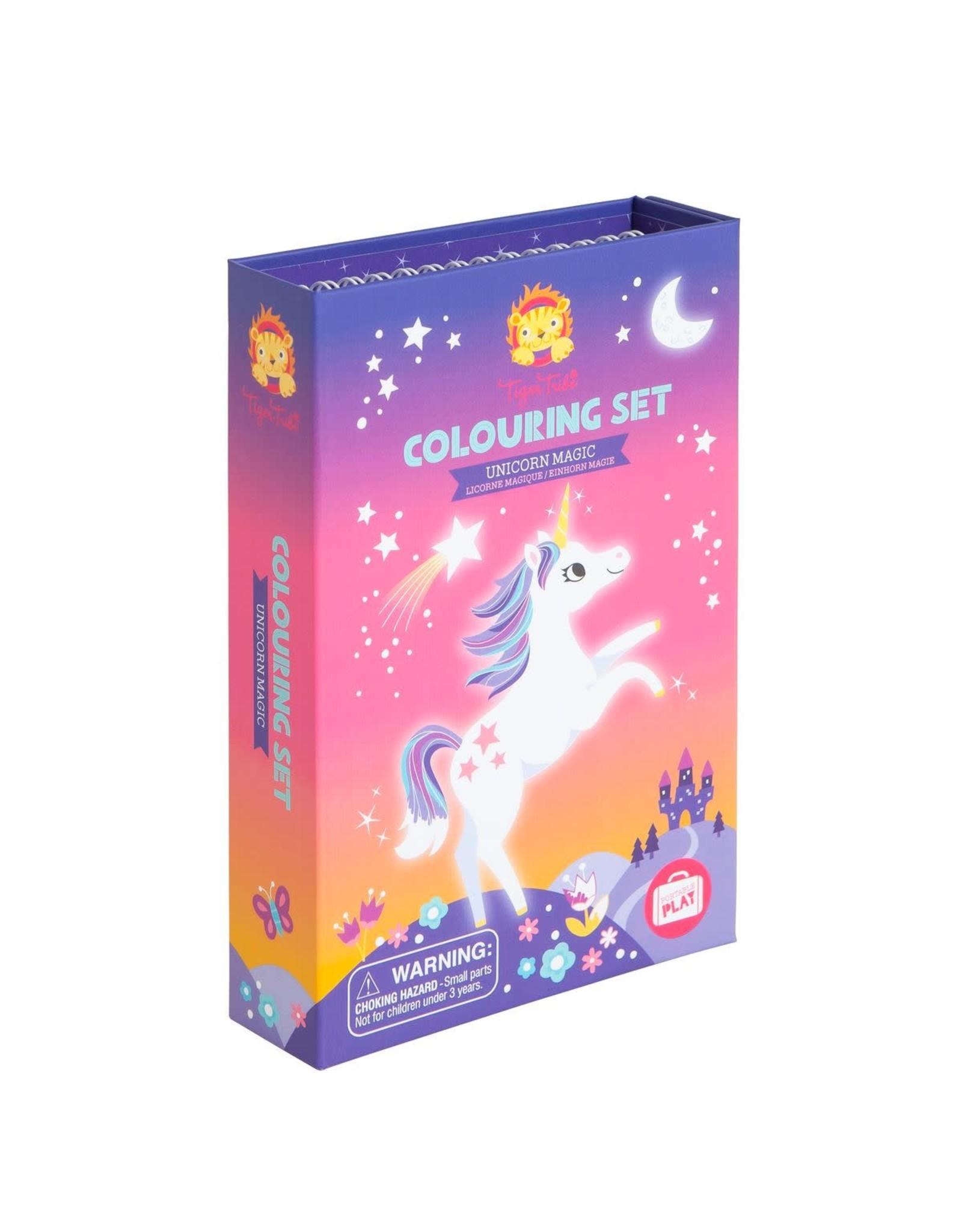 Tiger Tribe Colouring Set Unicorn Magic