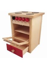 Playwood Fornuis Blank Rood 63 cm