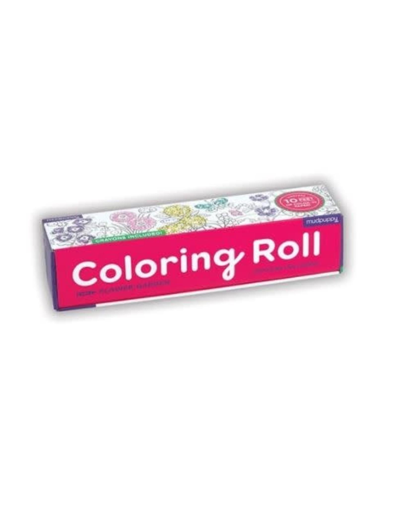 """Mudpuppy Coloring Roll """"Flower Garden"""""""