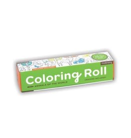 """Mudpuppy Coloring Roll """"Animals of the World"""""""