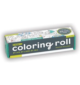 """Mudpuppy Coloring Roll Mini """"By Air, By Land, By Sea"""""""