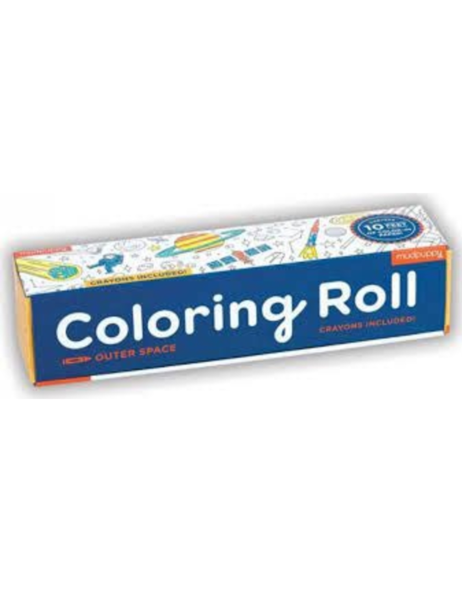 """Mudpuppy Coloring Roll Mini """"Outer Space"""""""