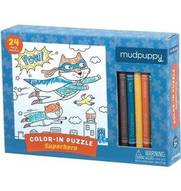 "Mudpuppy Color-In Puzzle ""Superhero"""