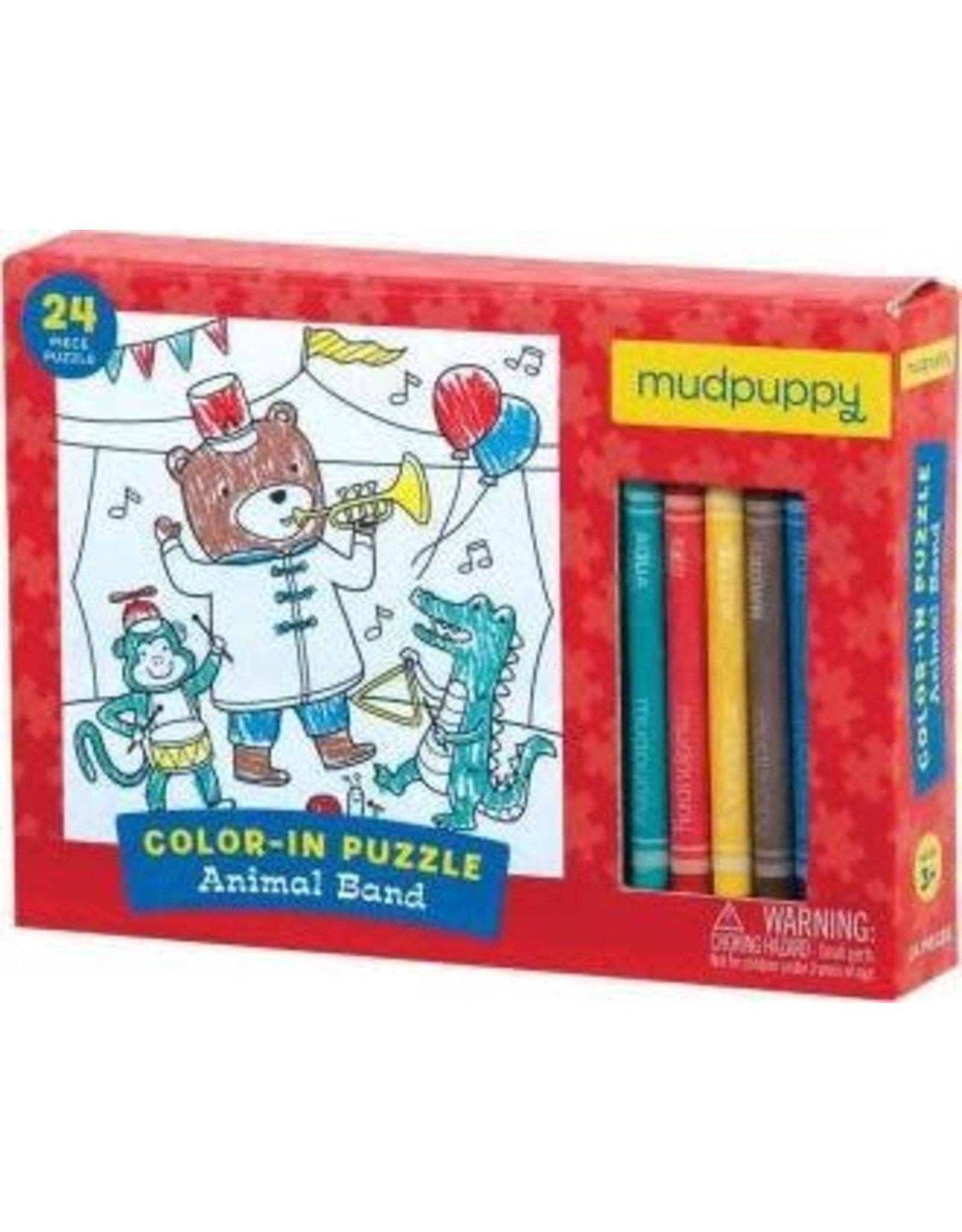 "Mudpuppy Color-In Puzzle ""Animal Band"""