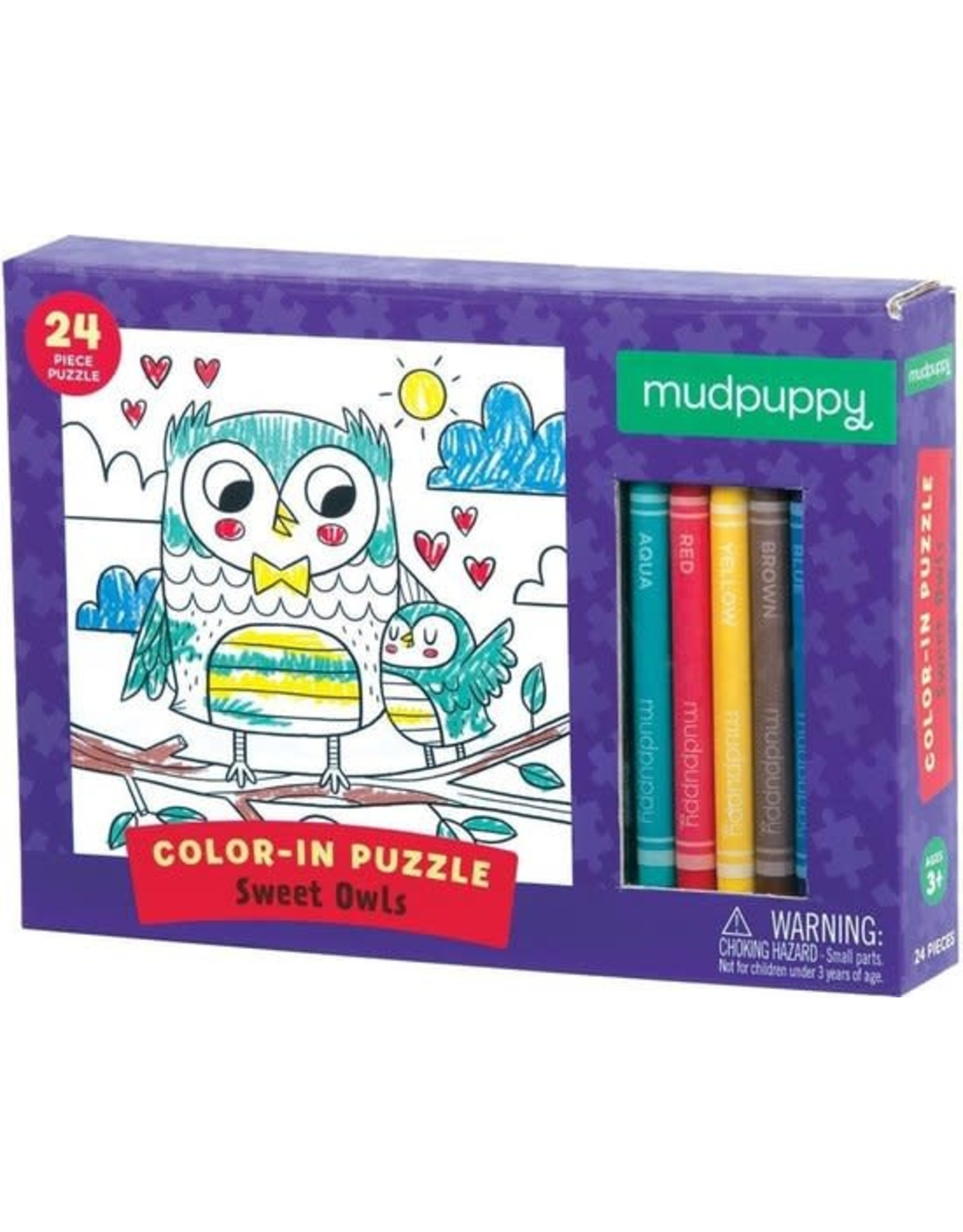 "Mudpuppy Color-In Puzzle ""Sweet Owls"""