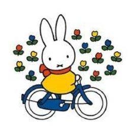 """nijntje nijntje wenskaart """"Op de fiets"""""""