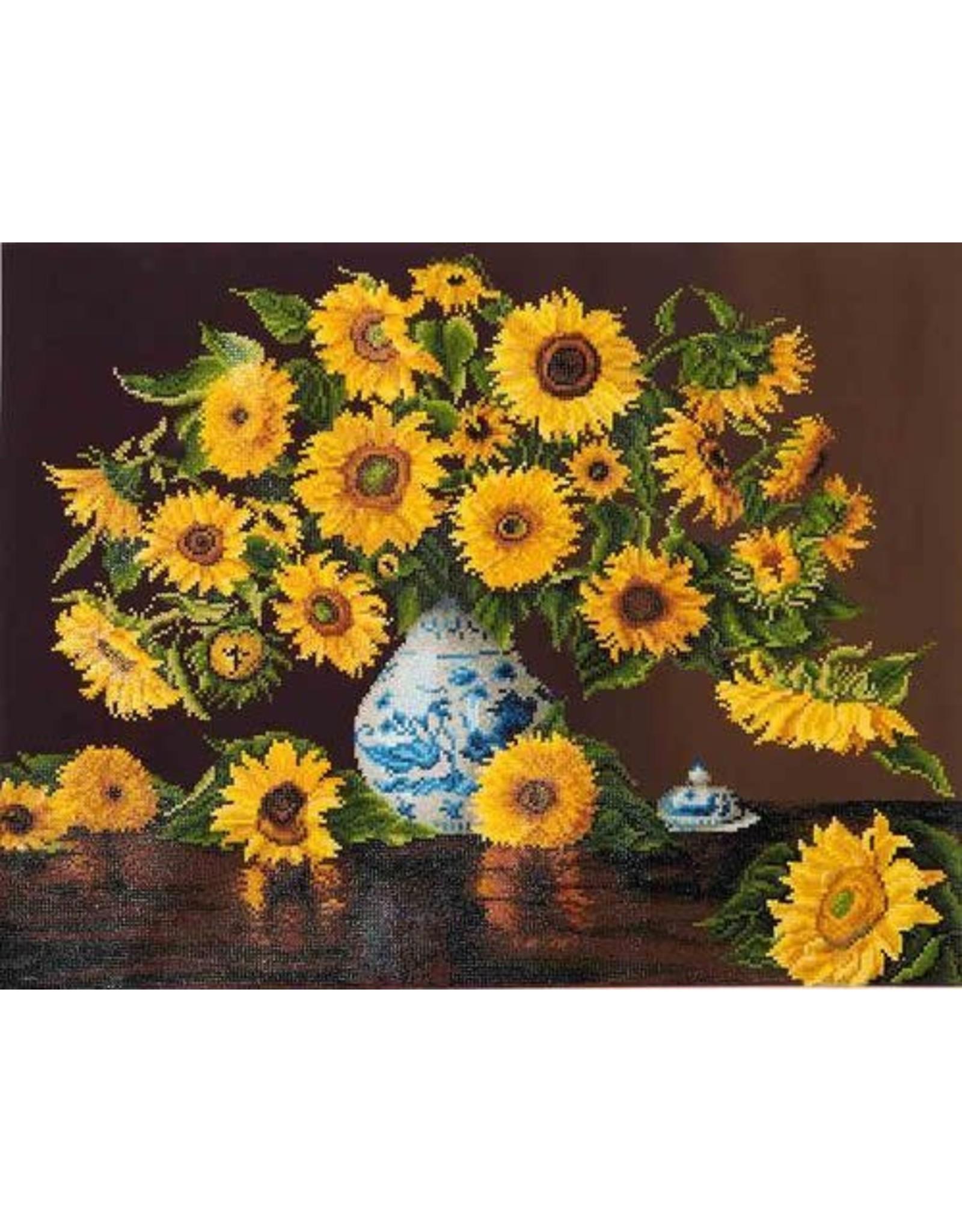 "Diamond Dotz Diamond Dotz ""Sunflowers in a china vase"""