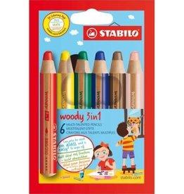 Stabilo Woody 3 in 1 Potloden (6st)