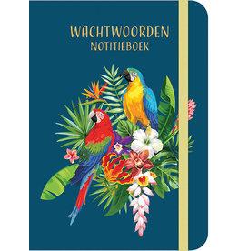 Deltas Wachtwoorden notitieboek - Tropical Birds