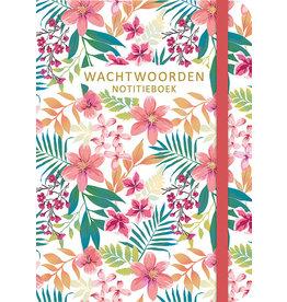 Deltas Wachtwoorden notitieboek - Flowers