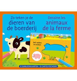 Deltas Sjabloonkaarten Zo teken je de dieren van de boerderij