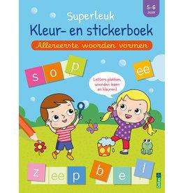 Deltas Superleuk kleur- en stickerboek - Allereerste woorden vormen