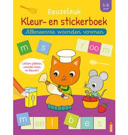 Deltas Reuzeleuk kleur- en stickerboek - Allereerste woorden vormen