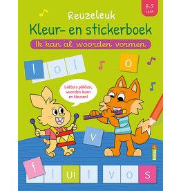 Deltas Kleur- en Stickerboek - Ik kan al woorden vormen