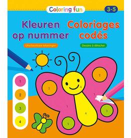 Deltas Coloring Fun - Kleuren op nummer (3-5 jaar)