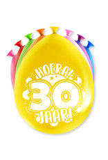 Ballonnen (8 stuks) met leeftijd