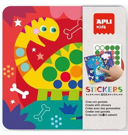 """APLI Stickerkaarten in blik """"Dino"""""""