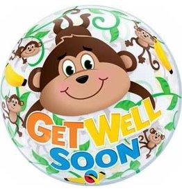 """""""Get Well Soon"""" Monkey Bubble"""