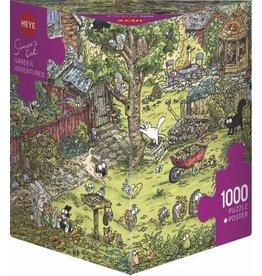 """Heye Puzzel + Poster """"Garden Adventures"""" 1000 stukjes"""