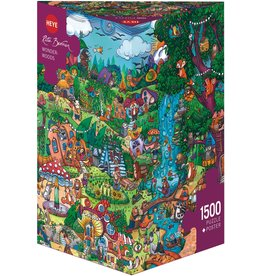 """Heye Puzzel + Poster """"Wonderwoods"""" 1500 stukjes"""
