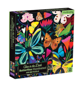 """Mudpuppy Glow in the Dark Puzzle """"Butterflies"""""""