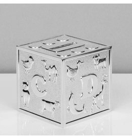 Bambino Verzilverde Spaarpot kubus